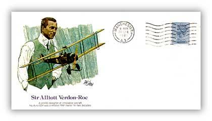 1980 Pioneer of Flight - Sir Alliot Von Roe Commemorative Cover