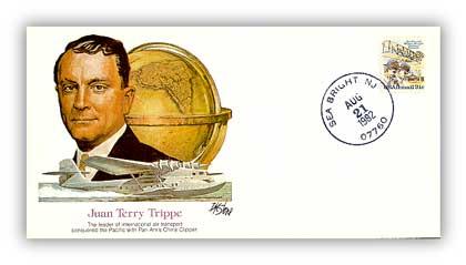 1980 Pioneer of Flight - Juan P. Trippe Commemorative Cover