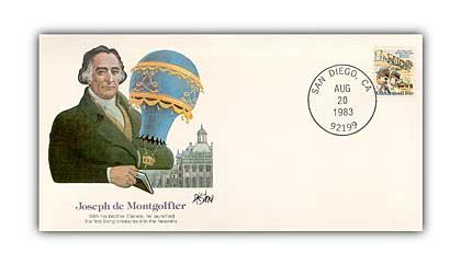 1980 Pioneer of Flight - Joseph Montgolfier Commemorative Cvr