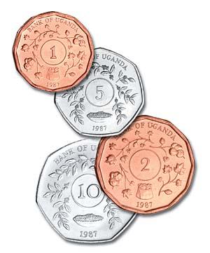 1987 Circulation Coins 1, 2, 5, & 10 Shilling