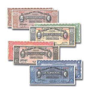 2004 Mexican Chihuahua Revolution money set/4