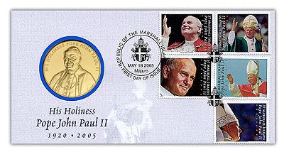 2005 Pope John Paul II Medal FDC