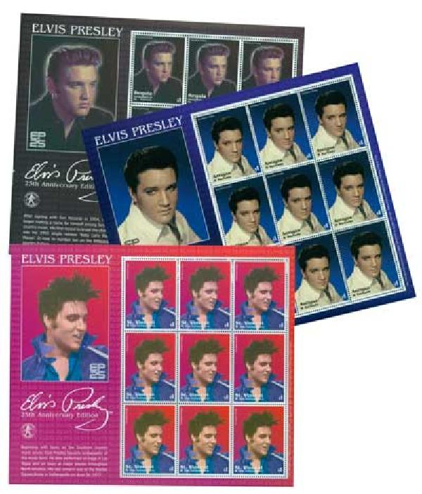 Elvis Stamp Collection, 10v
