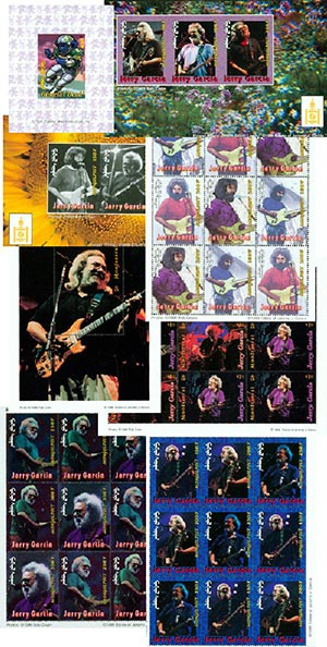 Jerry Garcia Stamp Collection 248v