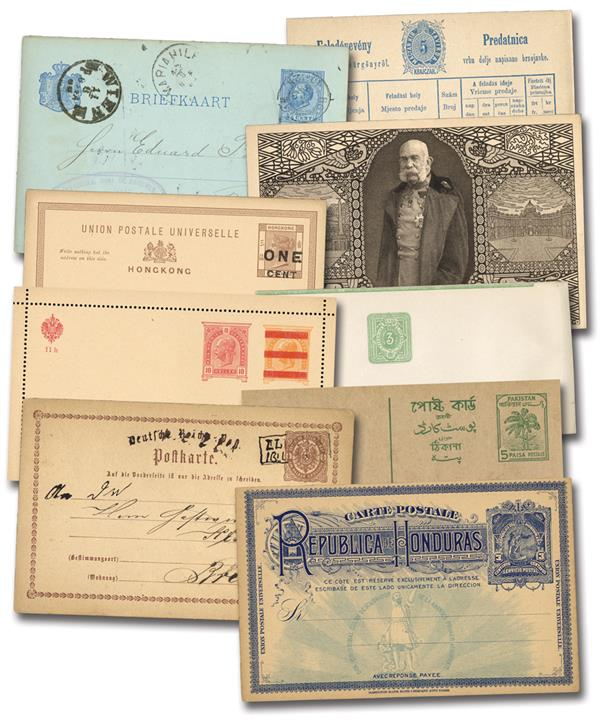 Postal Cards, Set of 25, Mint and Used, Worldwide