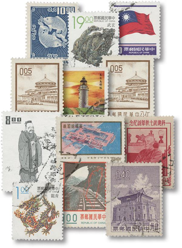 Formosa - 85 used stamps