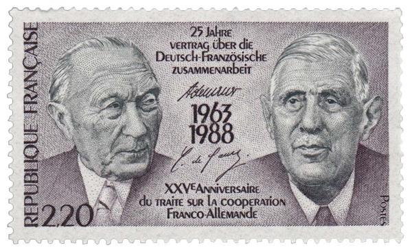 1988 France - 25th Anniversary of Franco-German Cooperative Treaty