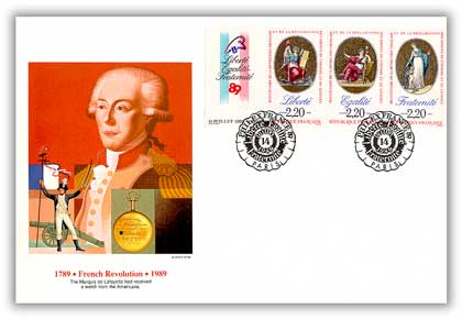 1989 US/France Joint Issue FDC