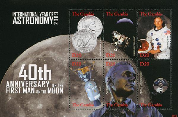2009 Gambia - 40th Anniversary Moon Landing