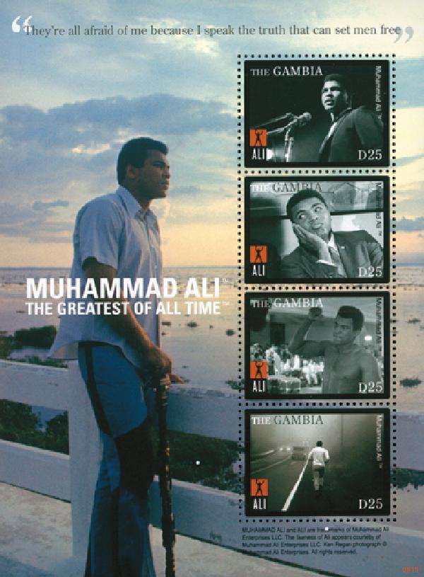 2008 Gambia Muhammad Ali 4v Mint