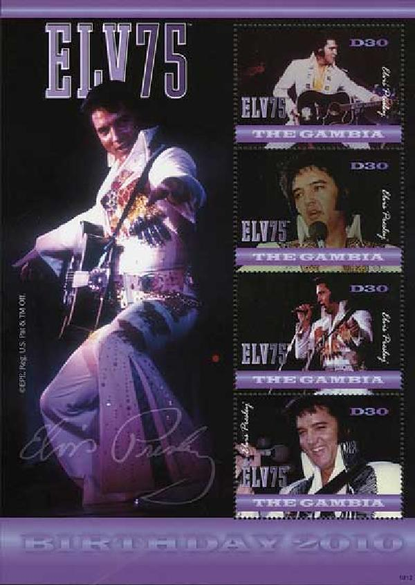 2010 Gambia Elvis 75th Birthday 4v M