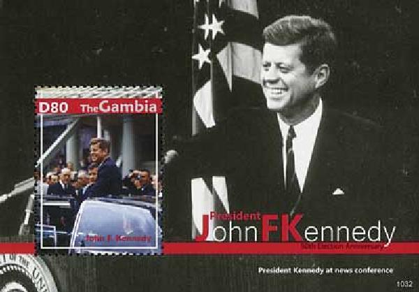 2010 Gambia JFK 50th Election Anniv 1v M