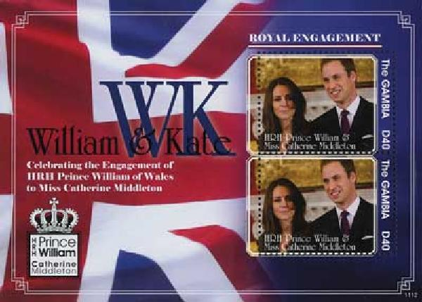 2011 Gambia William & Kate s/s