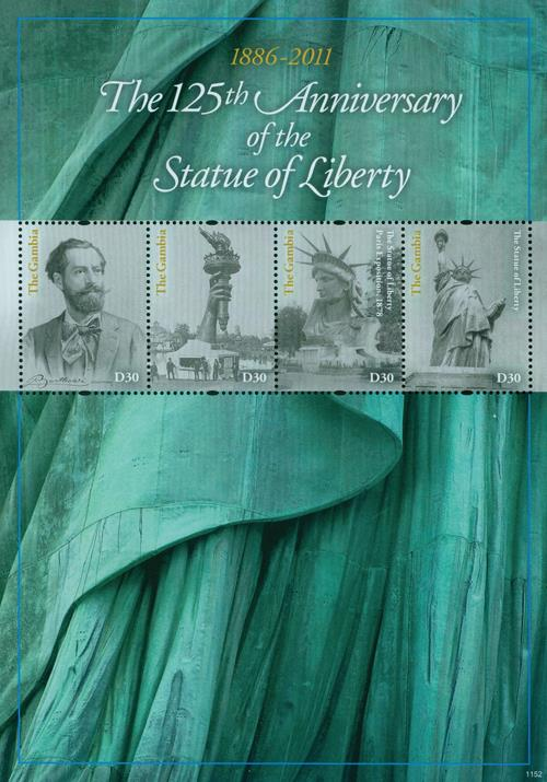 2011 Gambia Statue of Liberty 4v Mint