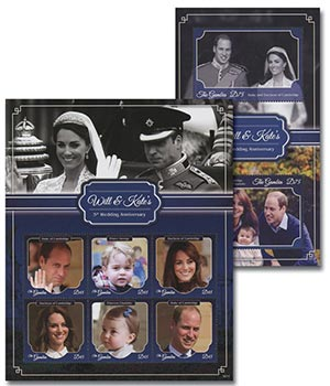2016 William & Kate with Henry & Charlotte; 5th Wedding Anniversary