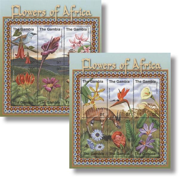 2001 Flowers of Africa; Scott Numbers 2461 & 2462
