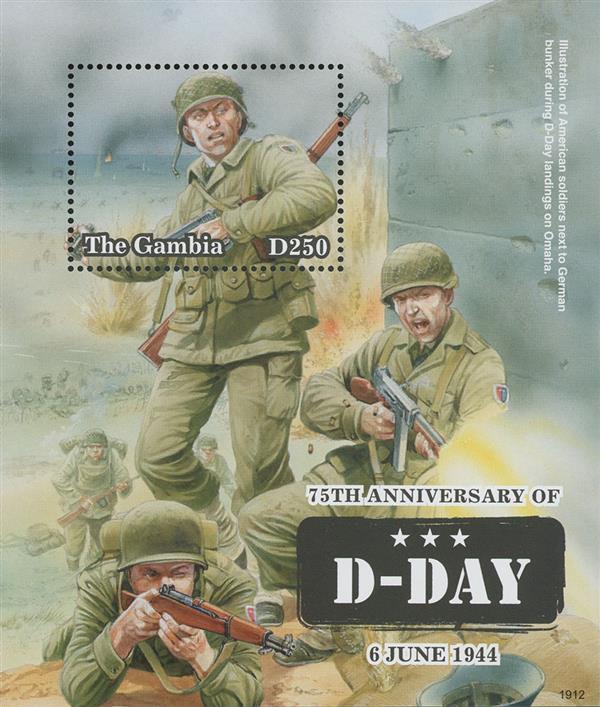 2019 D250 D-Day 75th Anniversary souvenir sheet of 1