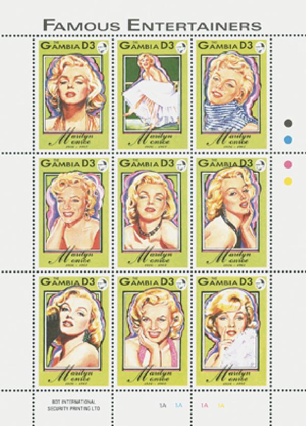"1993 Gambia 1398 ""Marilyn Portraits"""