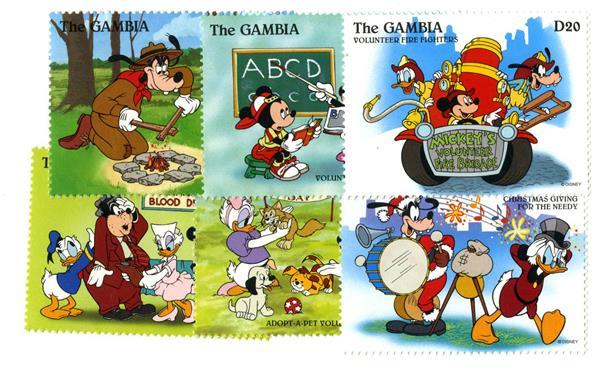 Gambia 1996 Doing Good Deeds, 6 Stamps