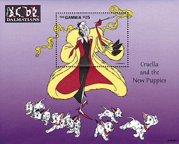 Gambia 1997 Cruella & the puppies, S/S