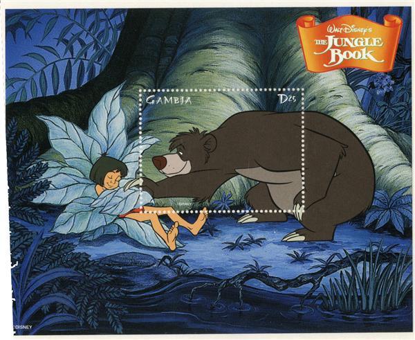 1998 Disneys The Jungle Book, Mint Souvenir Sheet, Gambia