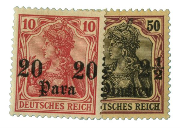 1905 German Off. - Turkish Empire