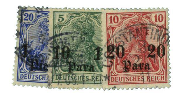 1906-12 German Off. - Turkish Empire