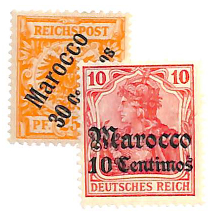 1899-1906 German Offices in Morocco