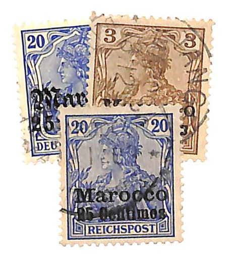 1900-11 German Offices in Morocco