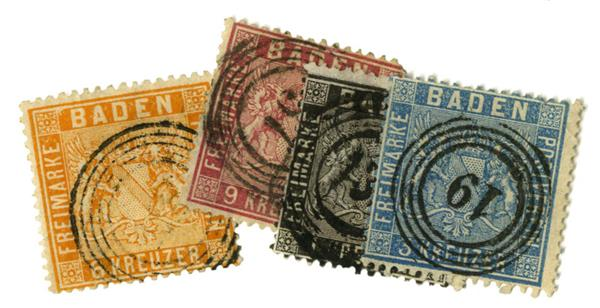 1860-62 German States-Baden