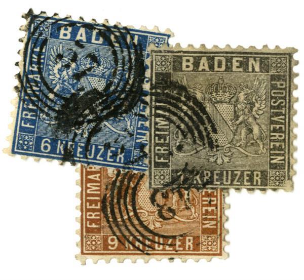 1862 German States-Baden
