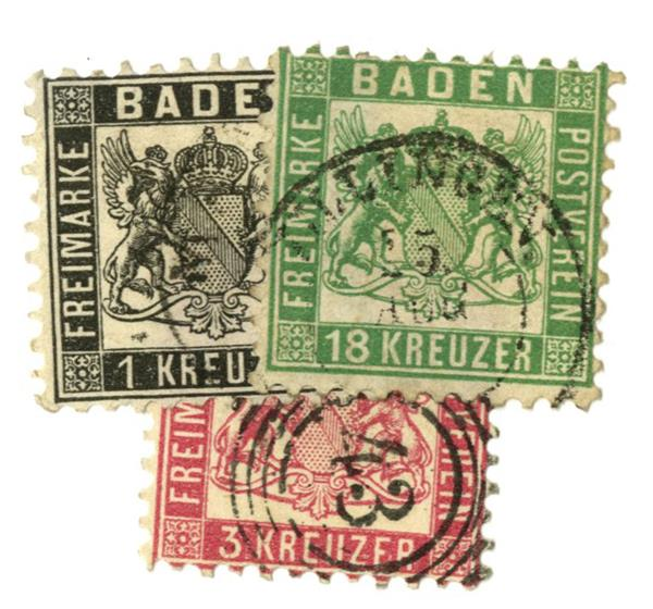 1862-65 German States-Baden