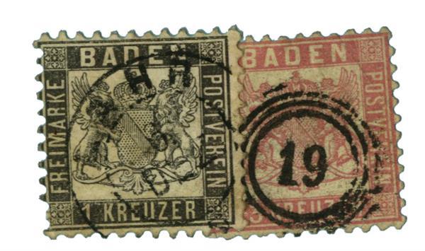 1862-64 German States-Baden