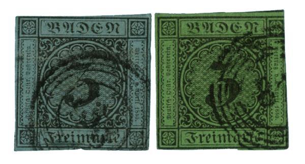 1853-58 German States-Baden