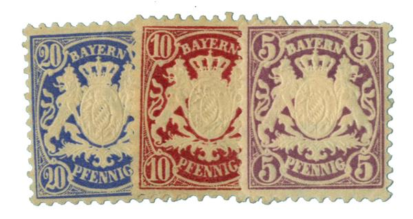 1881-1906 German States-Bavaria