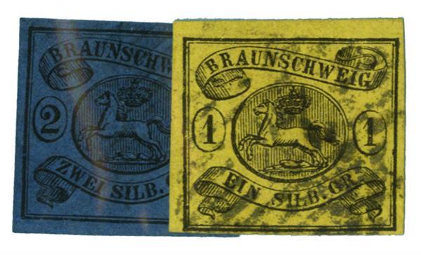 1853-61 German States-Brunswick