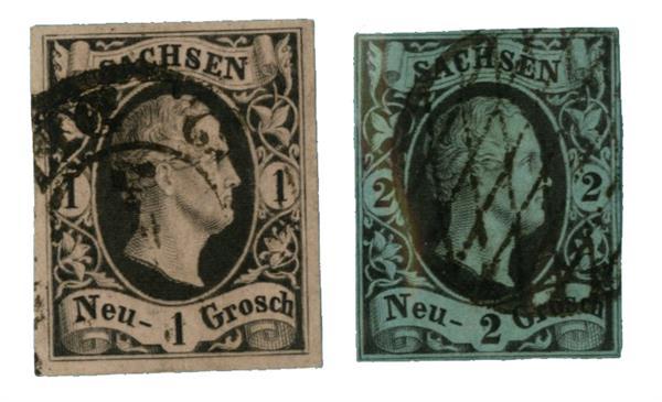 1851-52 German States-Saxony