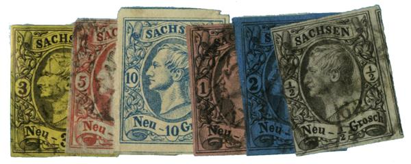 1855-60 German States-Saxony