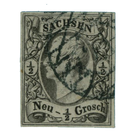 1855 German States-Saxony