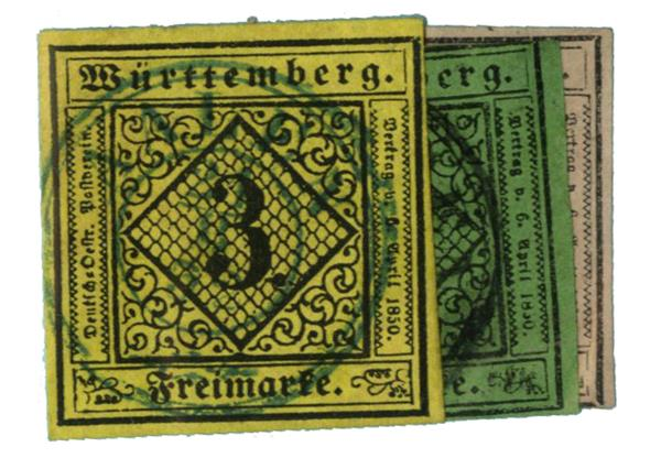 1851-52 German States-Wurttemburg