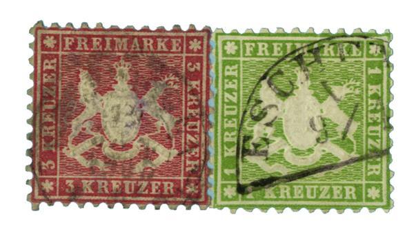 1863 German States-Wurttemburg