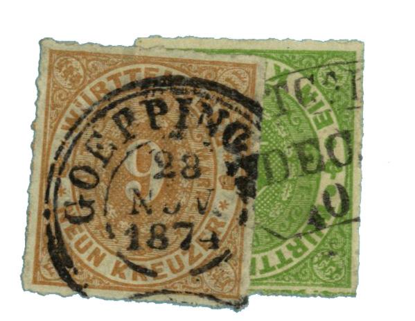 1869-73 German States-Wurttemburg