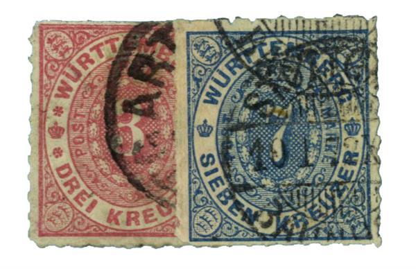 1869 German States-Wurttemburg
