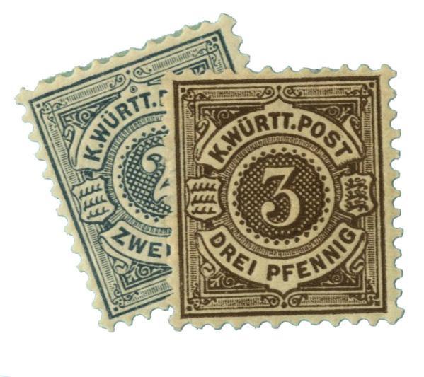 1890-93 German States-Wurttemburg