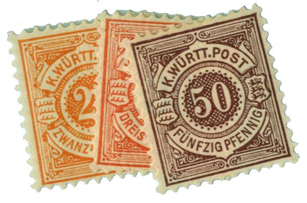 1890-1900 German States-Wurttemburg