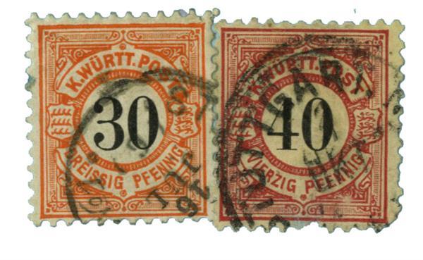 1900 German States-Wurttemburg