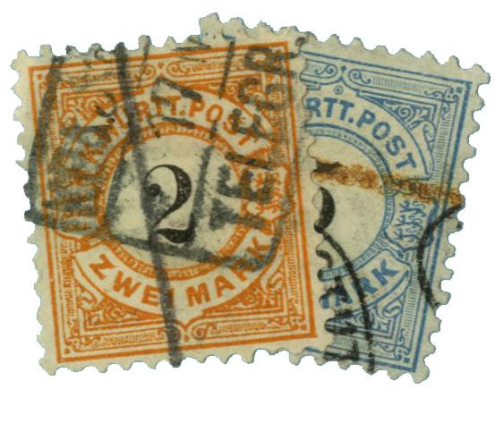 1881-86 German States-Wurttemburg