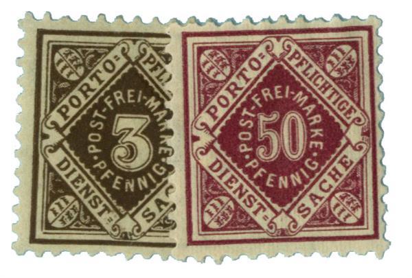 1906-21 German States-Wurttemburg