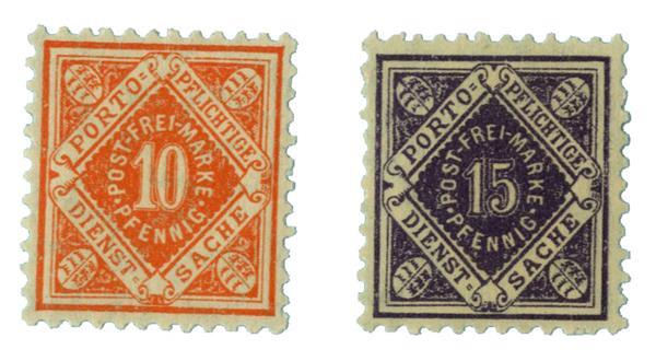 1917-21 German States-Wurttemburg