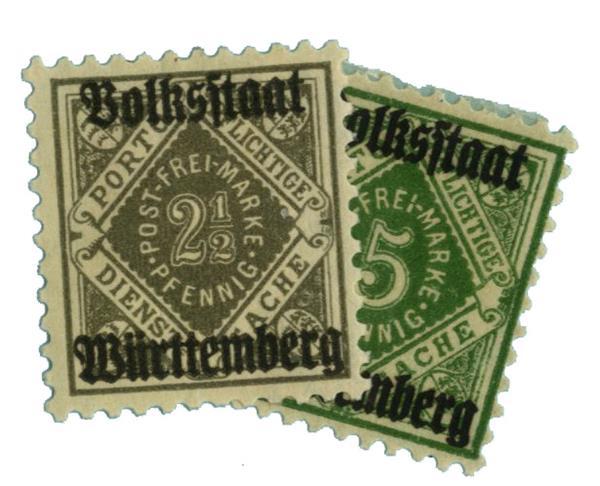 1919 German States-Wurttemburg